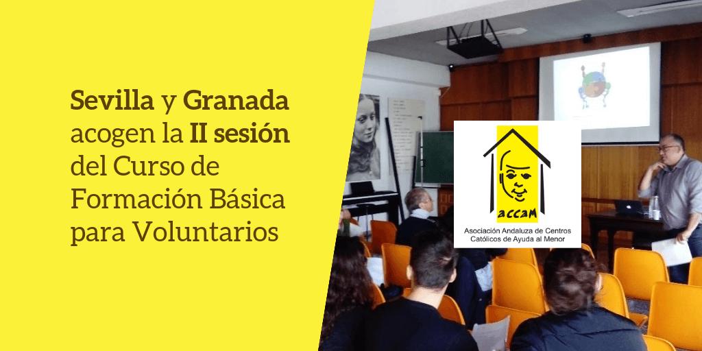 Celebrada la II sesión del curso de formación para voluntarios en Granada y Sevilla