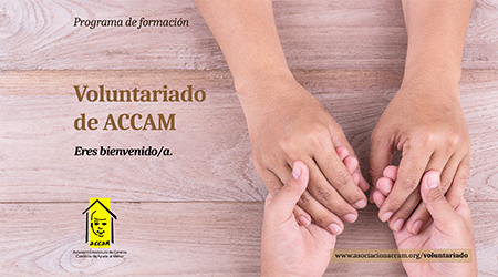 Imagen portada folleto Programa Voluntariado ACCAM