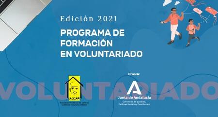 Programa de Formación en Voluntariado  Edición 2021. Cursos gratuitos de formación básica y especializada impartidos a través de Internet