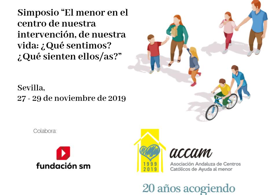 Simposio sobre atención a menores del 27 al 29 de noviembre en Sevilla